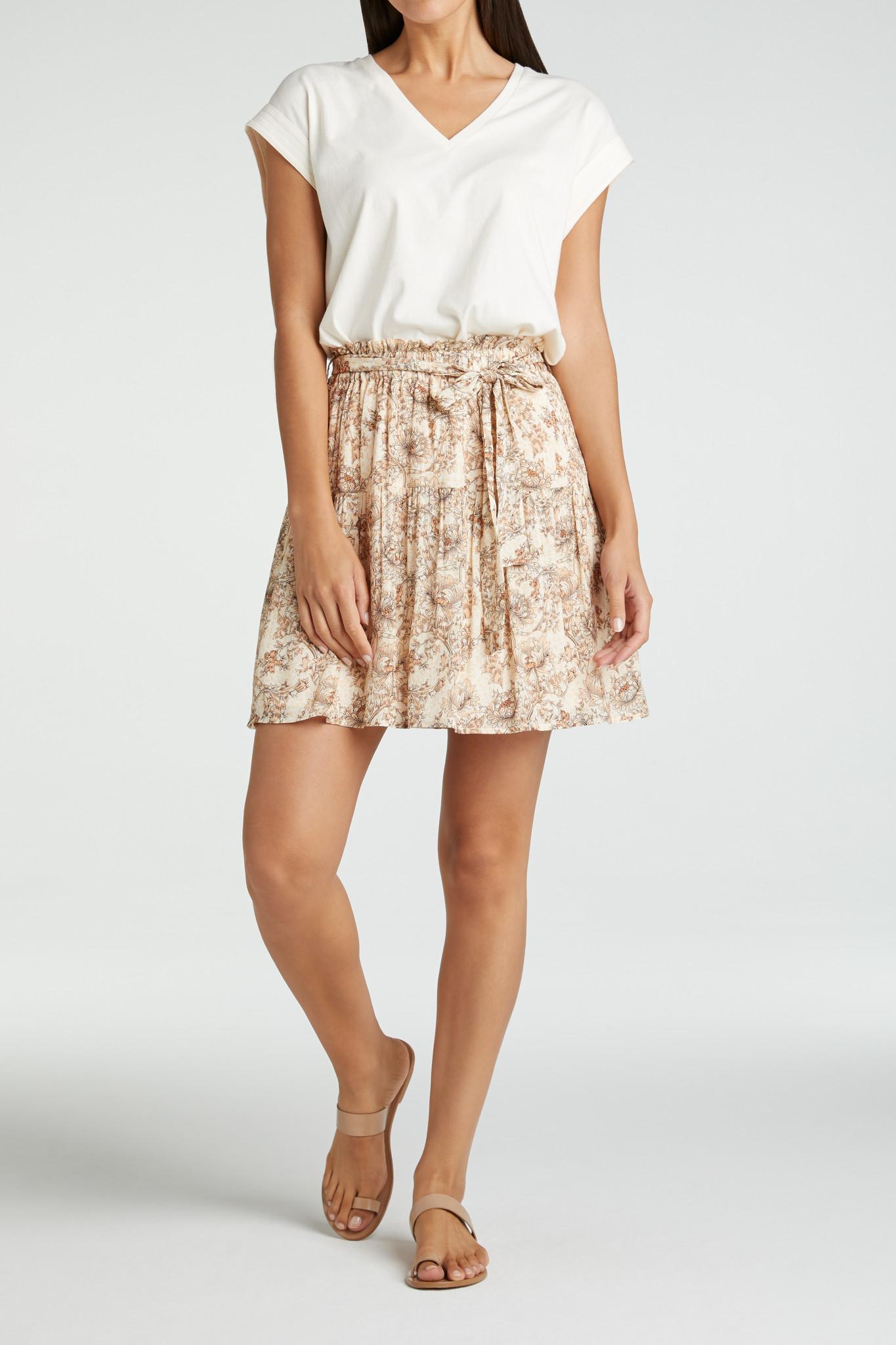 yaya Printed mini skirt 1401140-115-3