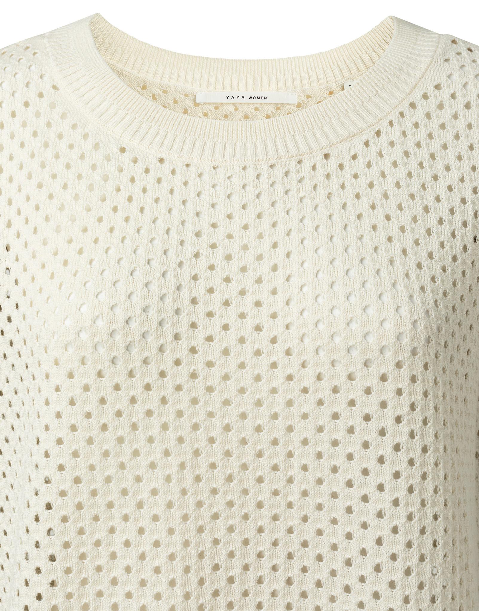 yaya Mesh stich sweater 1000444-115-2