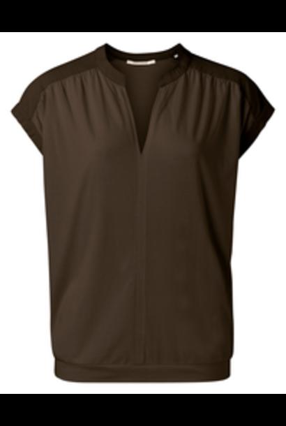 yaya Fabric mix top 1909429-115 90812