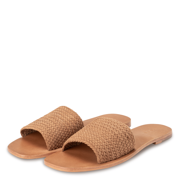 yaya Woven suede slipper 1343082-115-1