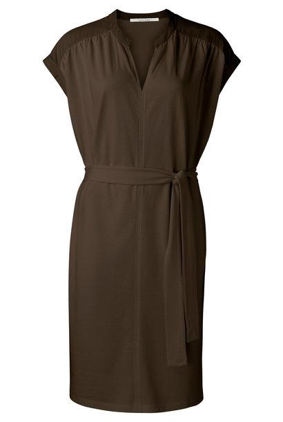 yaya Fabric mix dress wit 1809329-115 90812
