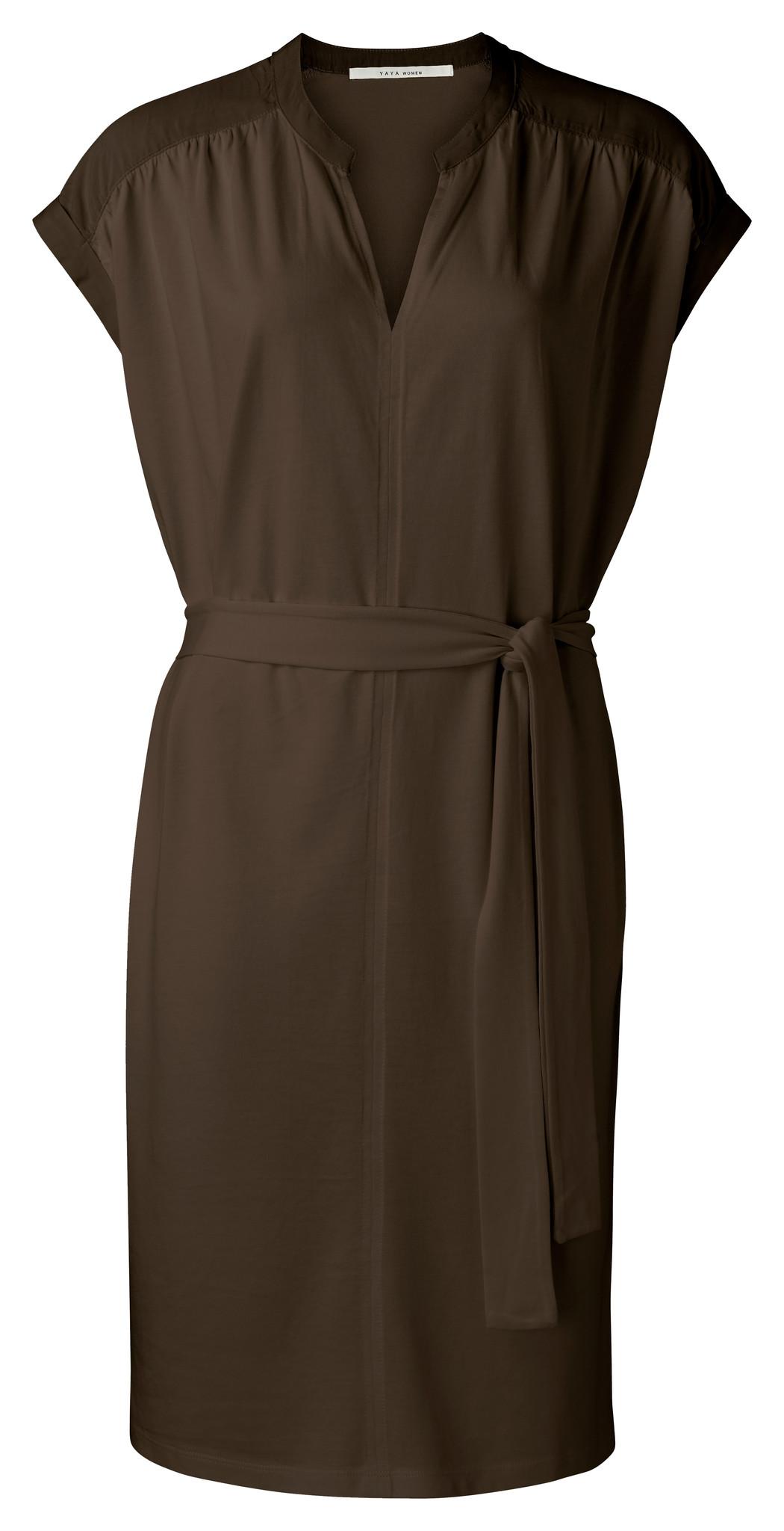 yaya Fabric mix dress wit 1809329-115-1