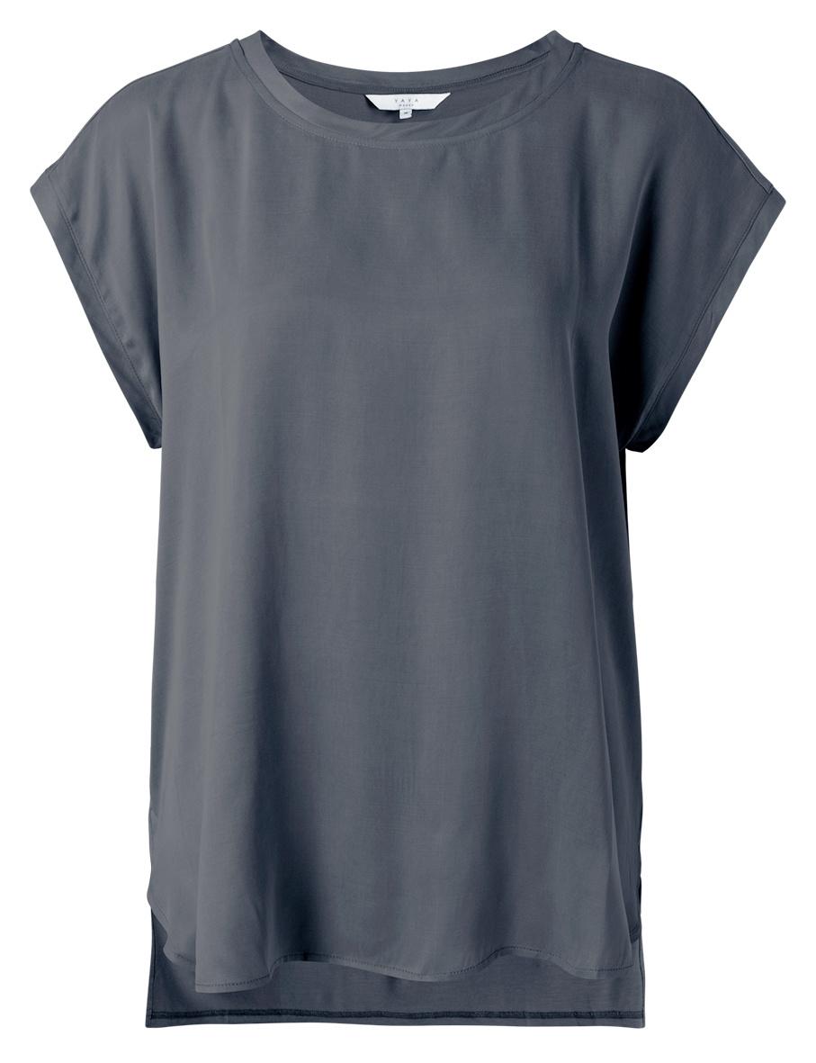 yaya Fabric mix top 1901116-121-1