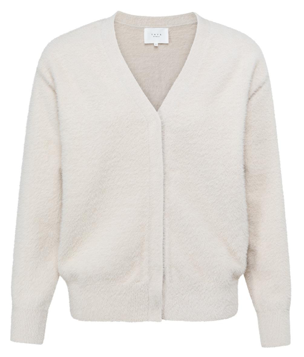yaya Fluffy yarn cardigan 1010129-122-1