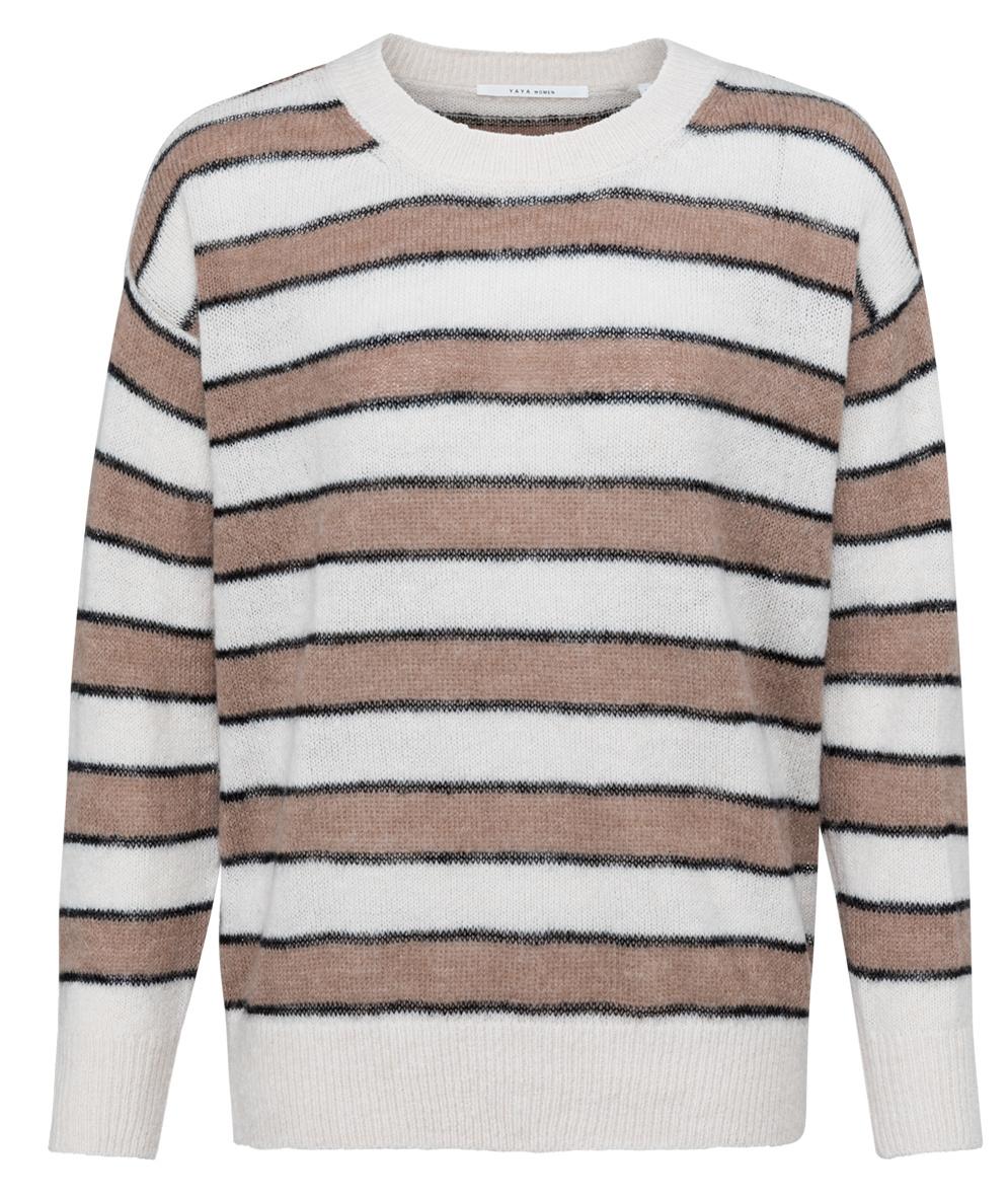 yaya Striped sweater 1000470-122-1
