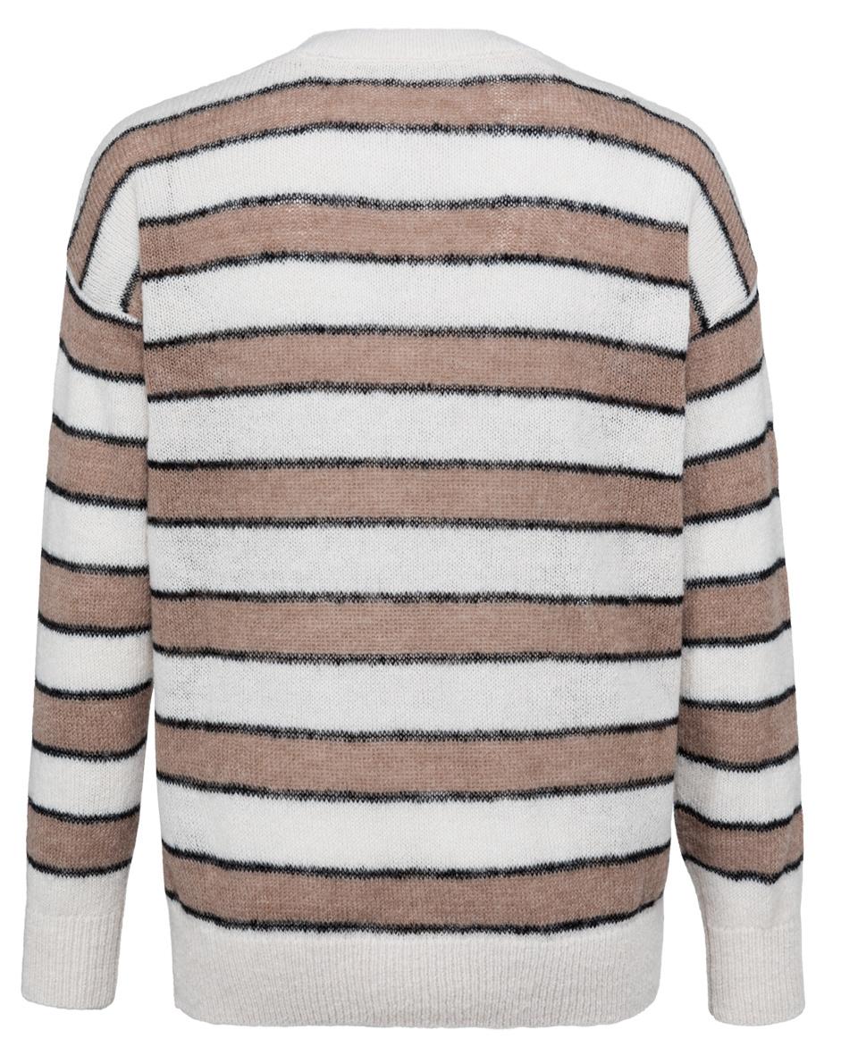 yaya Striped sweater 1000470-122-2