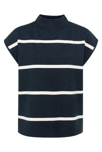 yaya Striped top cap slee 1000467-122 940121