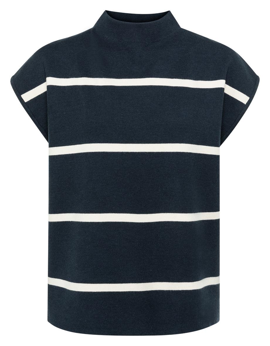 yaya Striped top cap slee 1000467-122-1