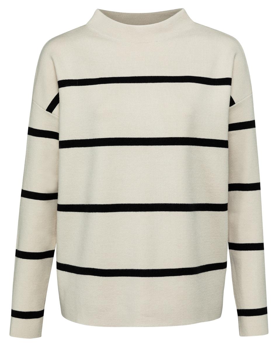 yaya Striped sweater 1000527-122-1