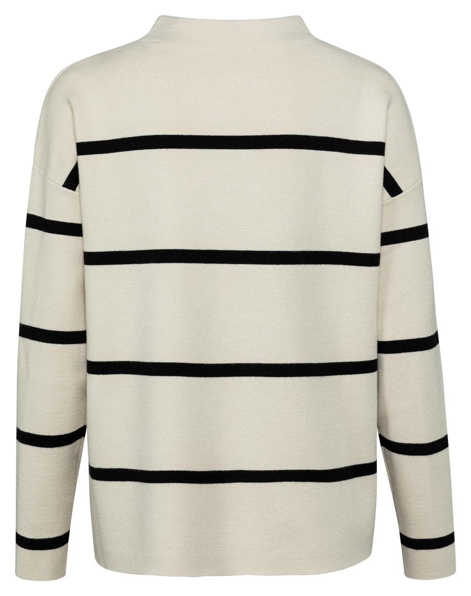 yaya Striped sweater 1000527-122-2