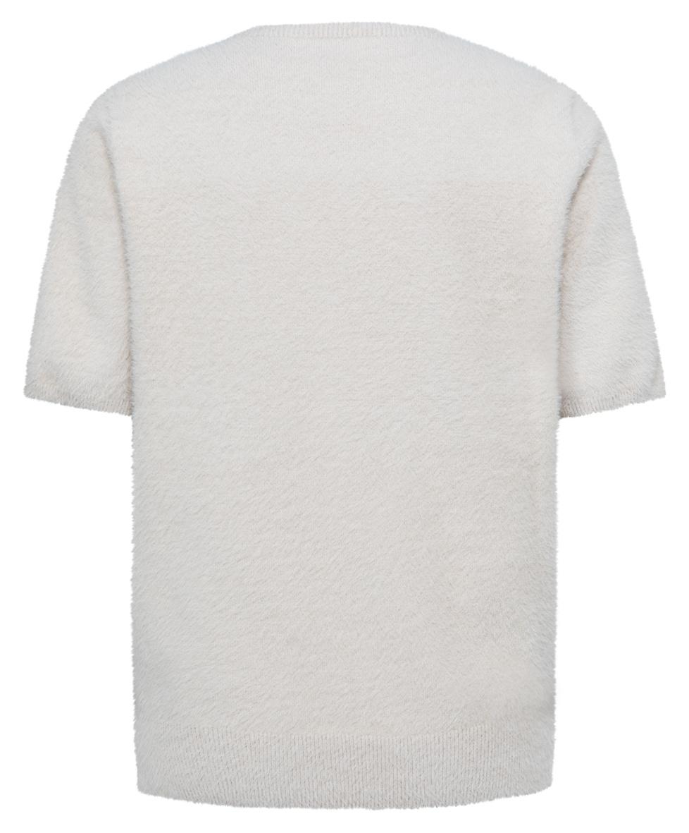 yaya Fluffy sweater V-nec 1000479-122-2