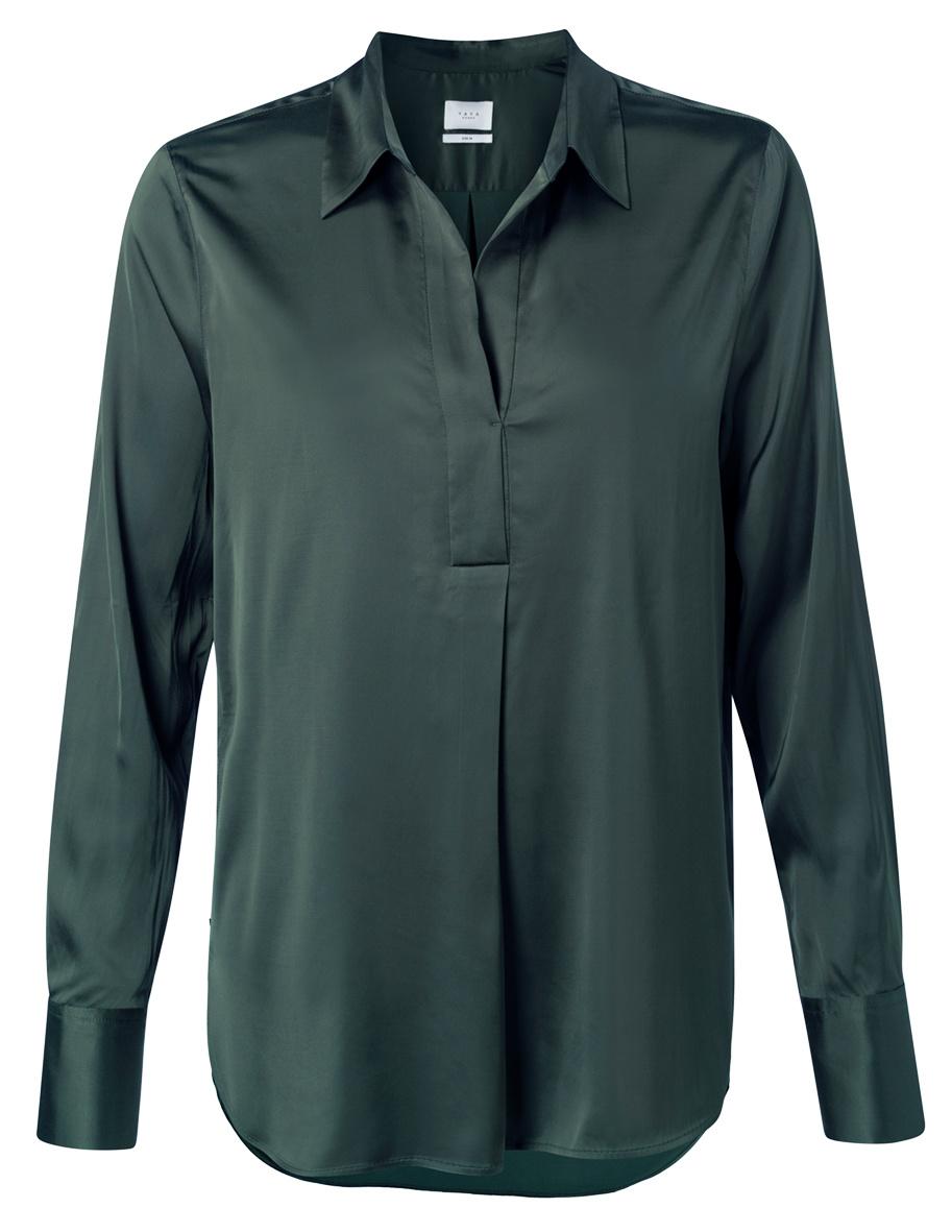 yaya Satin tunic blouse 1101199-123-1