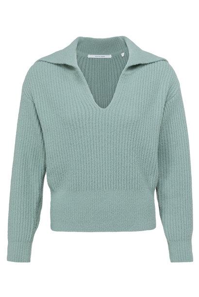 yaya Wide collar sweater 1000481-123 65806