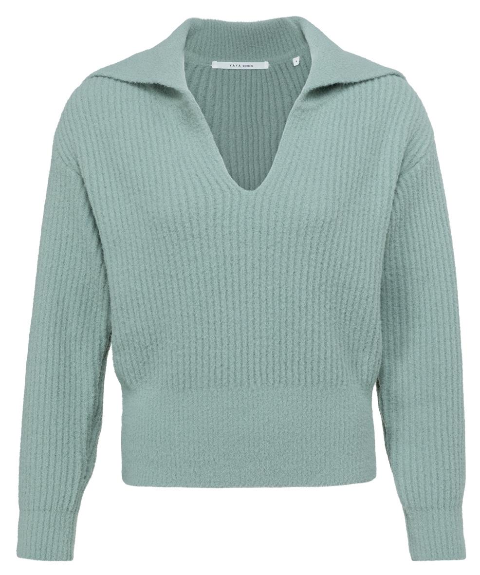 yaya Wide collar sweater 1000481-123-1