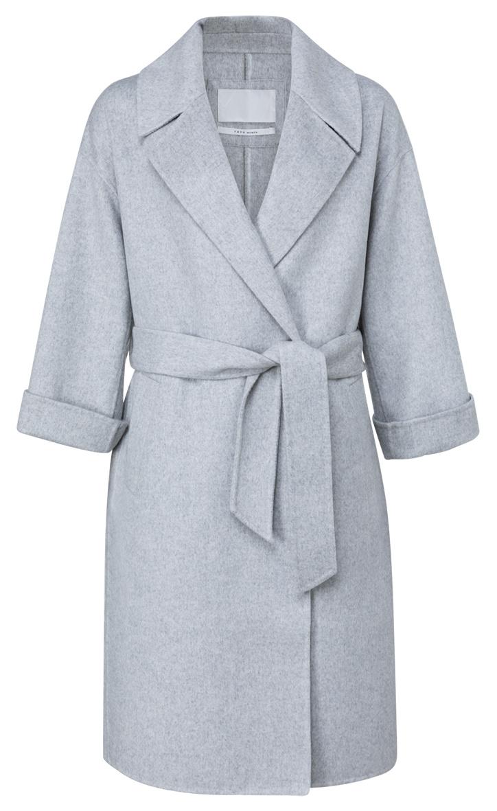 yaya Long wool-mix coat 1611053-123-1