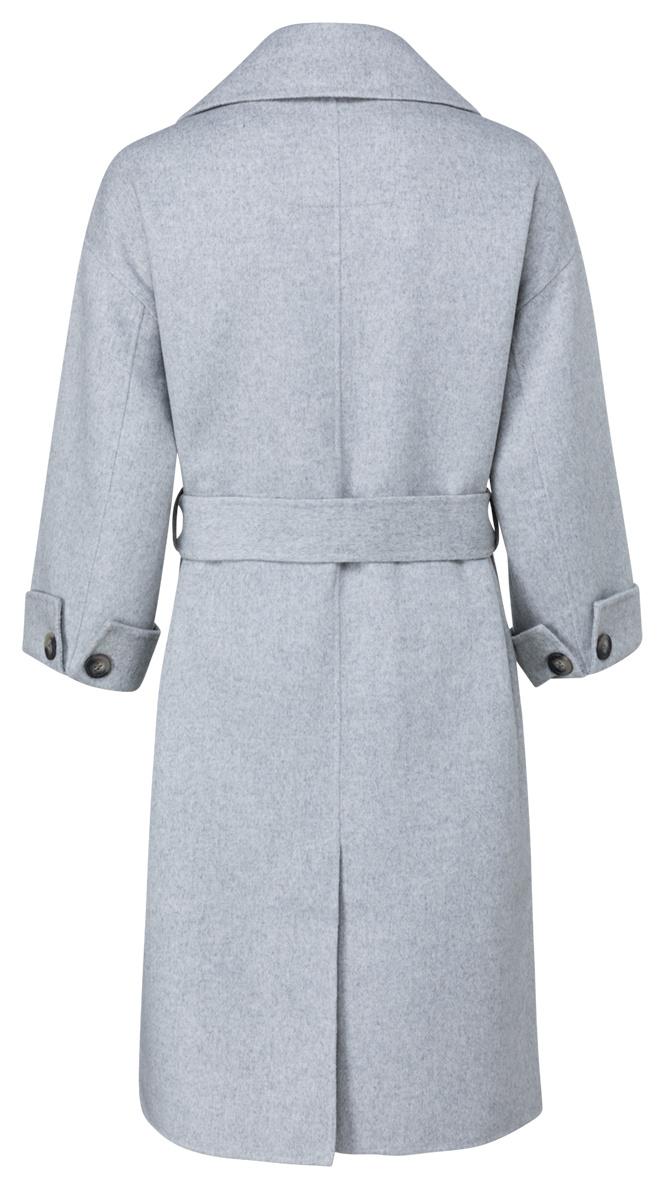 yaya Long wool-mix coat 1611053-123-2