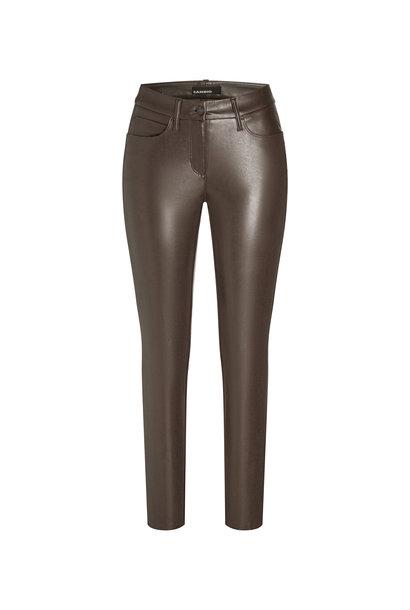 Cambio Nappa leatherpants RAY 6301 walnut 749