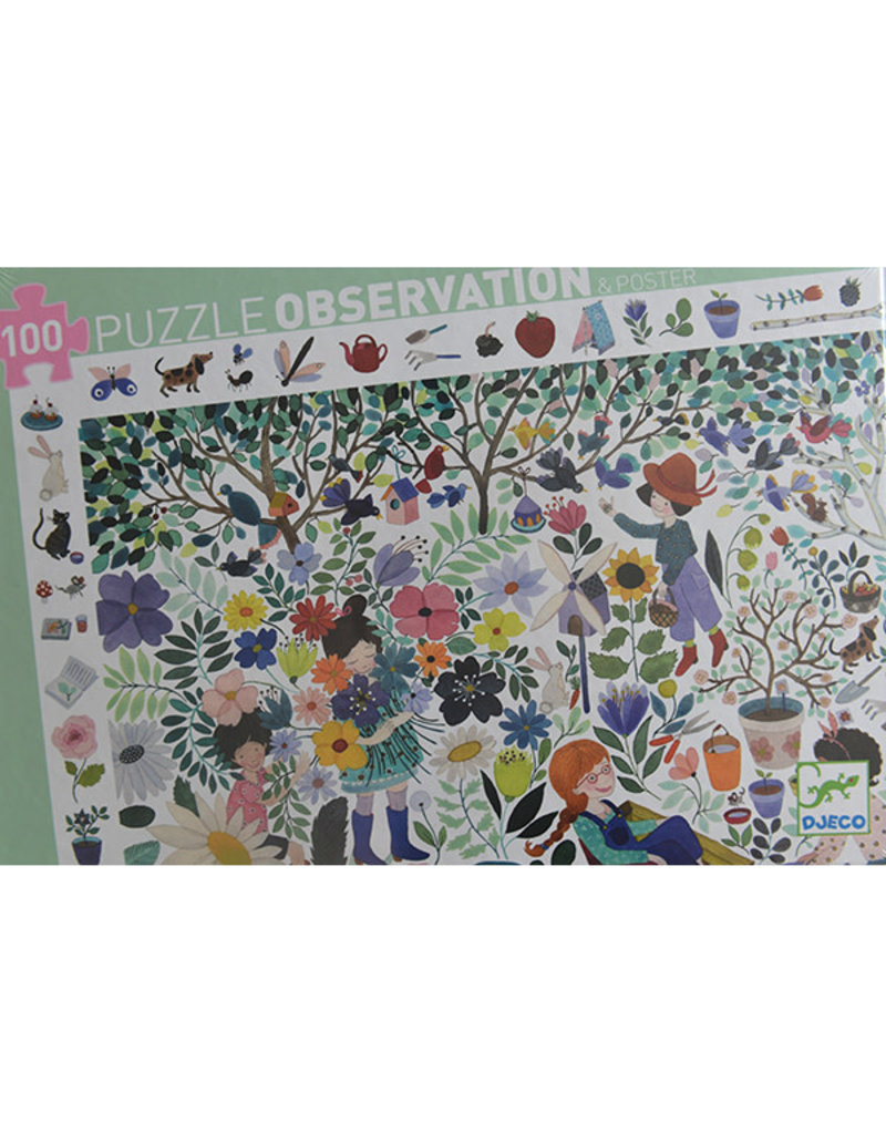 Djeco Djeco - puzzel observation, duizend bloemen, 100 stukken