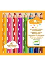 Djeco Djeco - kleurpotloden voor jonge kinderen, 8