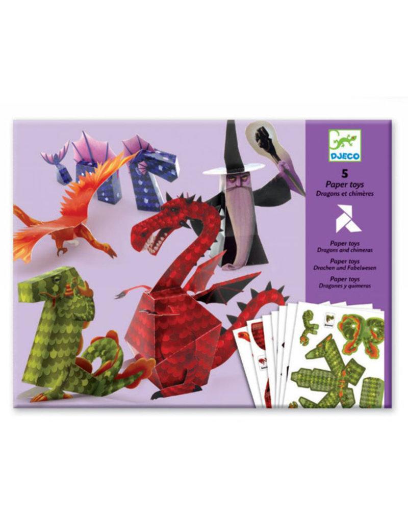 Djeco Djeco - papier vouwen, draken en tovenaar
