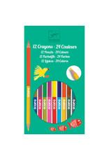 Djeco Djeco - kleurpotloden, 12 stuks, 24 kleuren