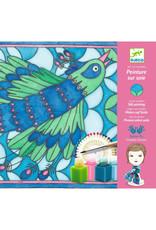 Djeco Djeco - zijdeschilderen, pauw