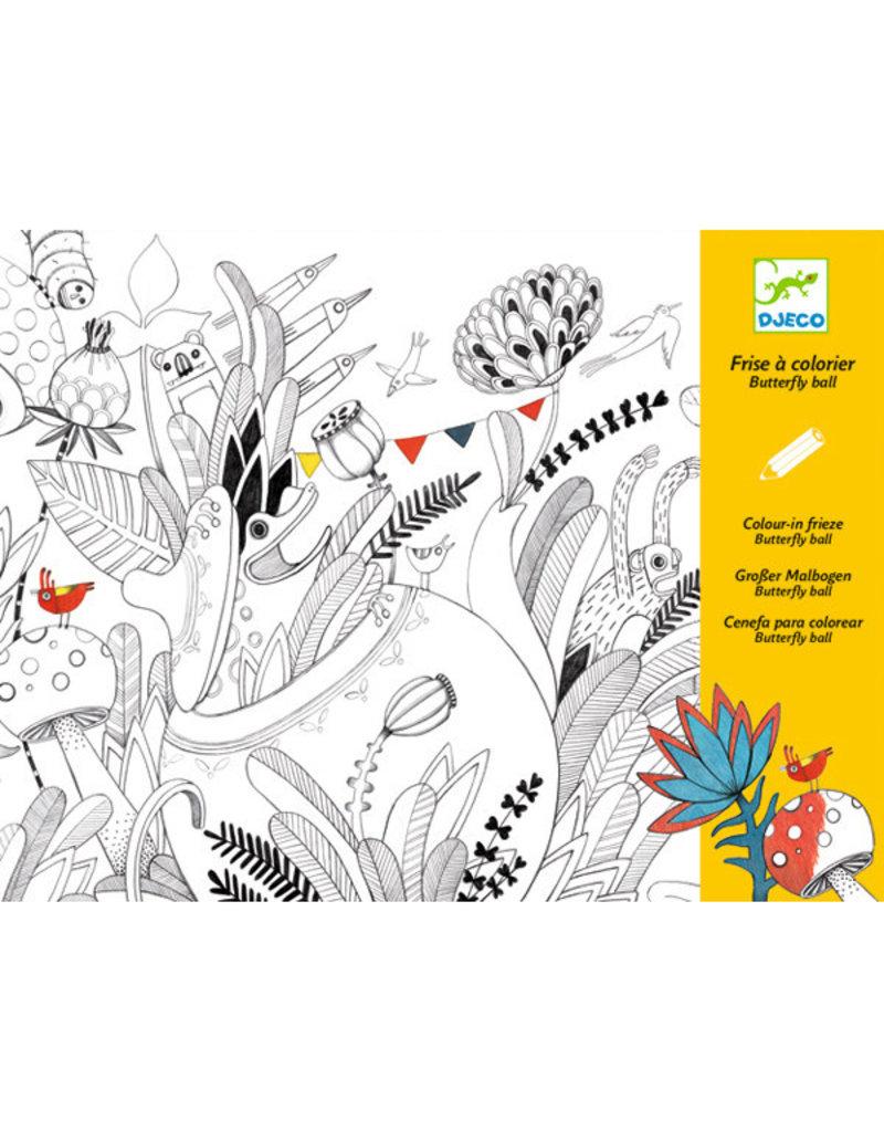 Djeco Djeco - kleurplaat, butterfly ball