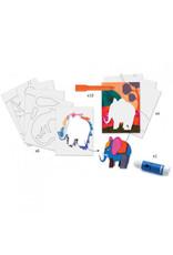 Djeco Djeco - atelier met gelpastels, wilde dieren