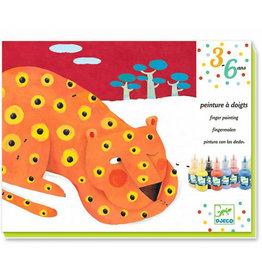 Djeco Kunst met vingerverf, dieren