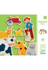 Djeco Djeco - magneten, hout, boerderij