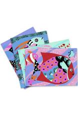 Djeco Djeco - gekleurd zand, kunst op nummer, regenboog van vissen