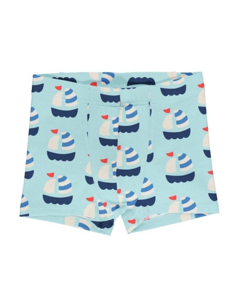 Maxomorra Maxomorra - boxershort, lichtblauw, sailboat