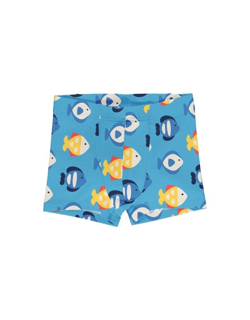 Maxomorra Maxomorra - boxershort, zachtblauw, tropical aquarium