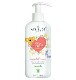 Attitude 2-in-1 Shampoo en Body Wash, Pear Nectar