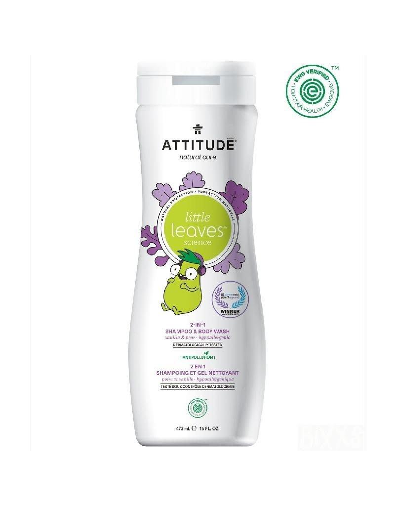 Attitude Attitude - Little Leaves 2-in-1 Shampoo & Body Wash, Vanilla & Pear