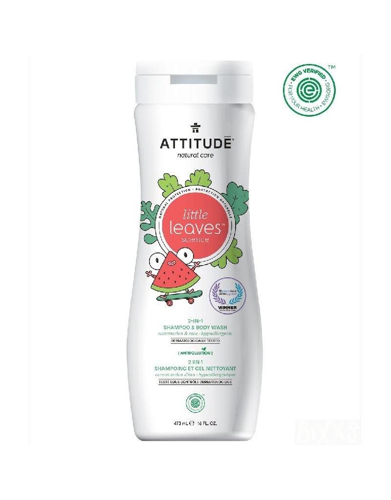 Attitude Attitude - Little Leaves 2-in-1 Shampoo & Body Wash, Watermelon & Coco