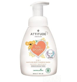 Attitude 2-in-1 Hair and Body Foaming Wash, Pear Nectar