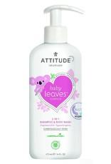 Attitude Attitude - Baby Leaves 2-in-1 Shampoo en Body Wash, geurvrij