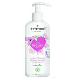 Attitude 2-in-1 Shampoo en Body Wash, geurvrij