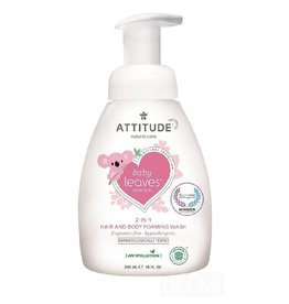 Attitude 2-in-1 Hair and Body Foaming Wash, geurvrij