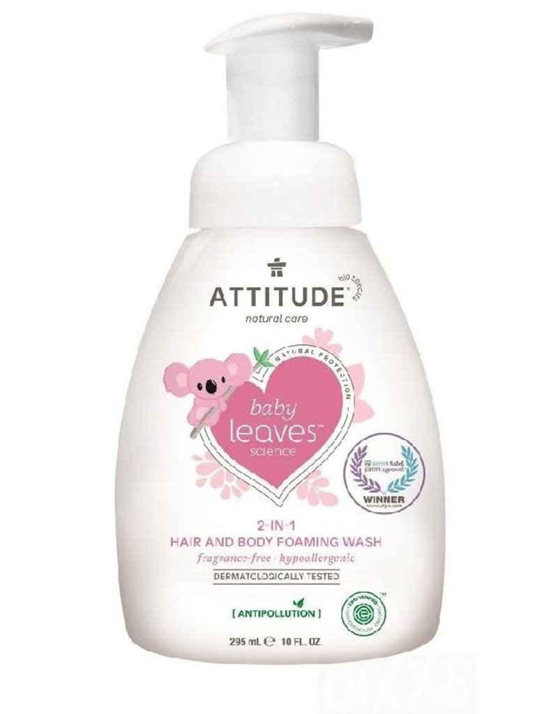 Attitude Attitude - Baby Leaves 2-in-1 Hair and Body Foaming Wash, geurvrij