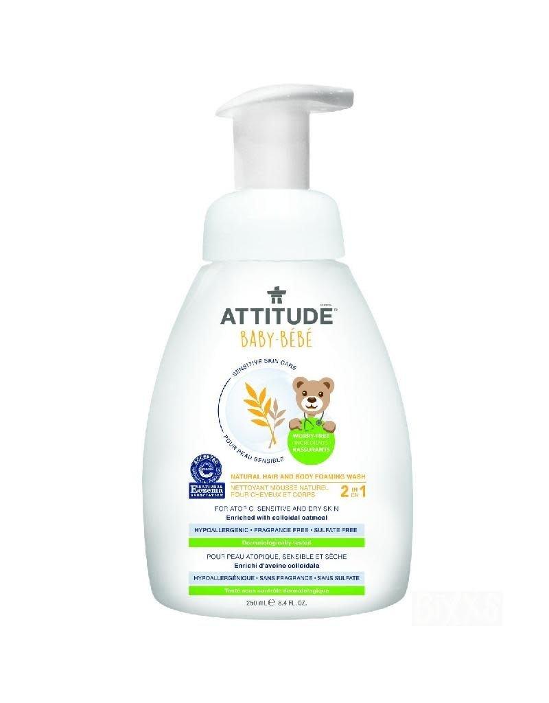 Attitude Attitude - Sensitive Skin Hair and Body Foaming Wash