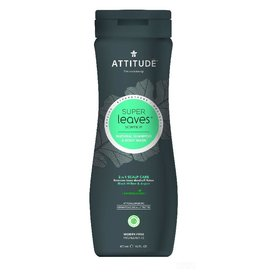 Attitude 2-in-1 Shampoo and Body Wash, Scalp Care Men