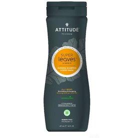 Attitude 2-in-1 Shampoo and Body Wash, Sports Men