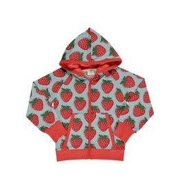 Maxomorra Cardigan met kap, strawberry