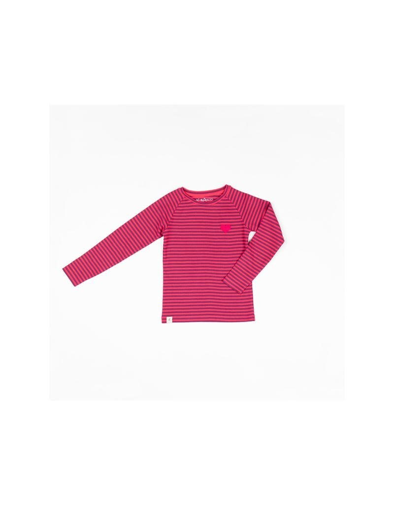 Alba of Denmark Alba of Denmark - shirt, Raspberry Magic Stripe