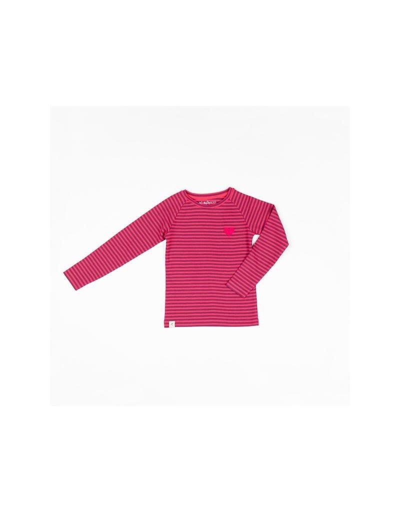 Alba of Denmark Alba of Denmark - shirt, All you need Tee, Raspberry Magic Stripe (3-16j)