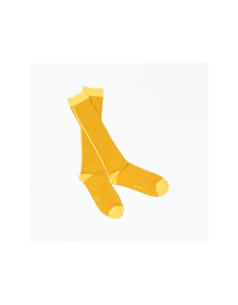 Alba of Denmark Alba of Denmark - kniekousen, Bea knee socks, Nugget Gold
