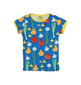 DUNS Sweden T-shirt, blue, garlic, chives and onion (3-16j)