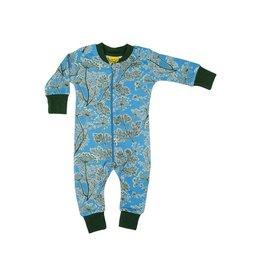 Duns Sweden Zipsuit, blauw, dill (0-2j)